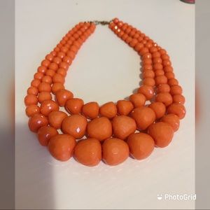 Ardene Orange bling bling bead necklace